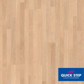 Ламинат Quick Step Creo Plus CRP 1372 Дуб французский белый лакированный четырёхполосный, класс 32
