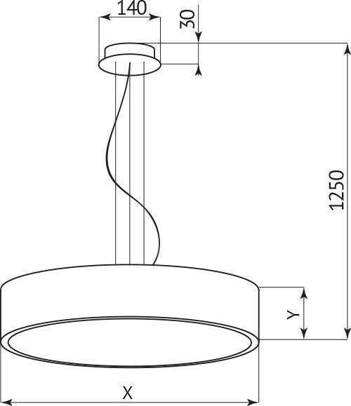 Астэри Надписи D388 H100 Лампы: 7 х GX-53
