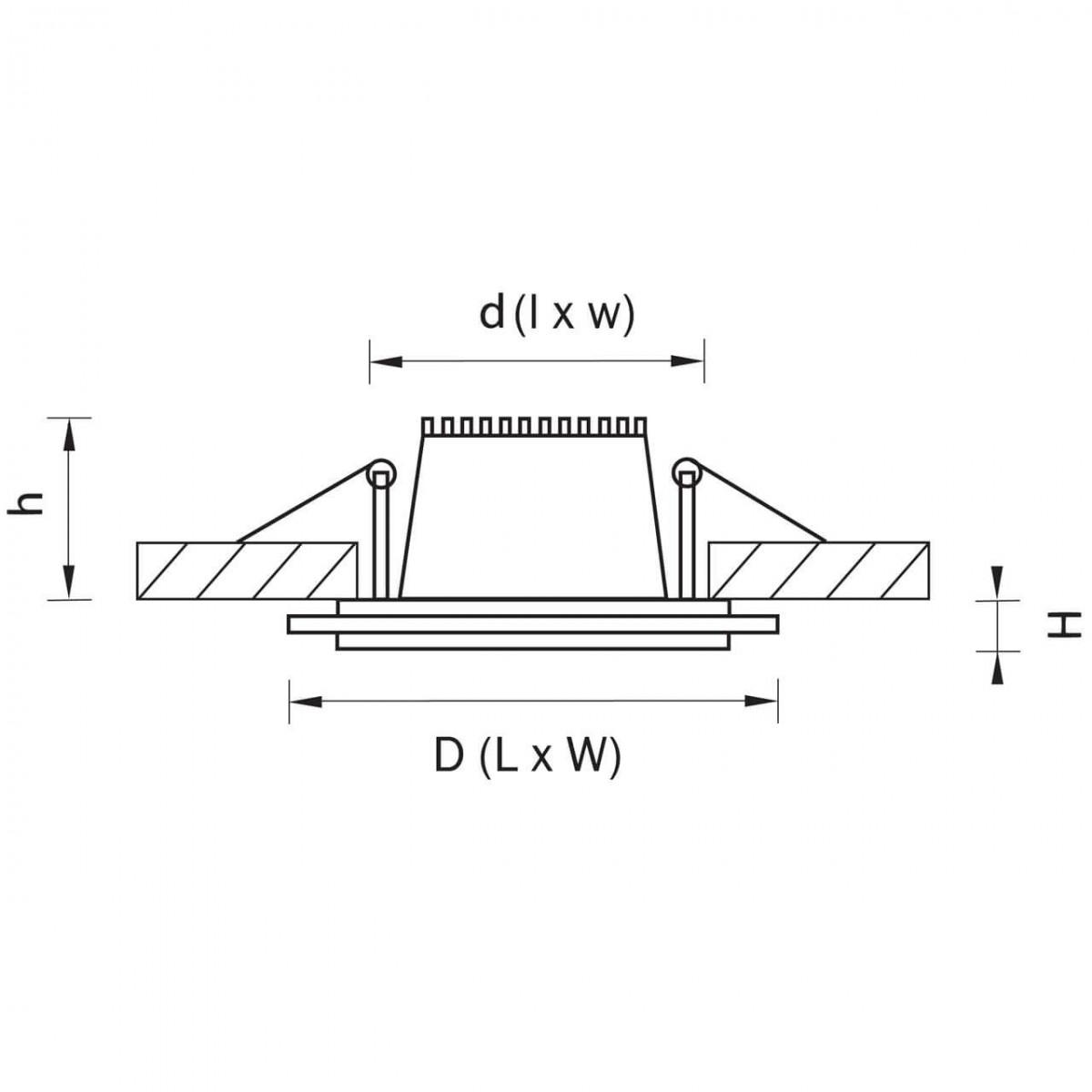 Встраиваемый светодиодный светильник Lightstar Acri 212011