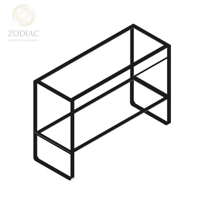 SYSTEM-POOL Modul Каркас 120 см для раковины чёрный
