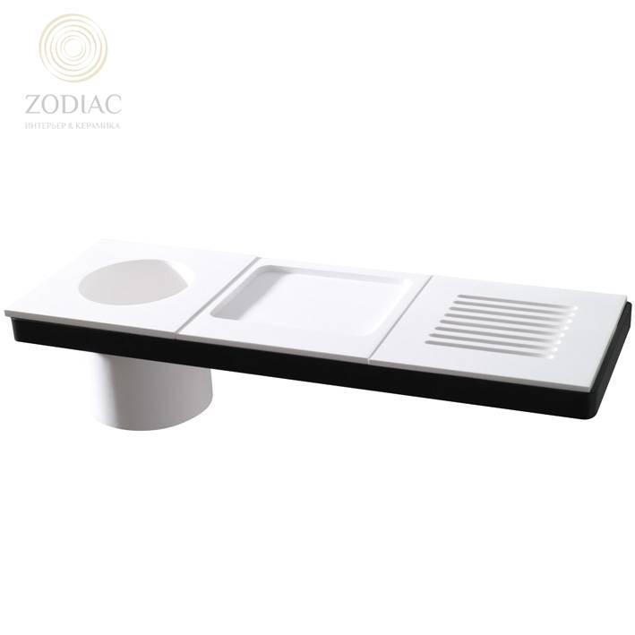 SYSTEM-POOL Modul Каркас 45х15 см для аксессуаров черный матовый