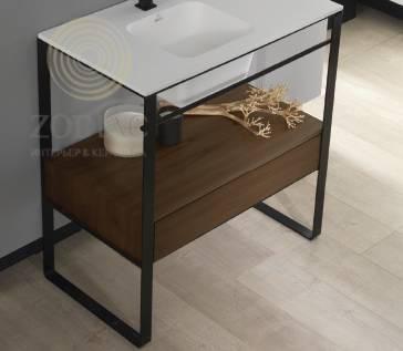 SYSTEM-POOL Modul Каркас-подставка 80 см для раковины чёрный