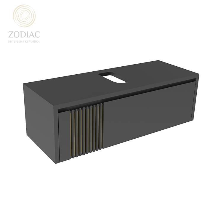 NOKEN Arquitect Тумба 120х38х45 см подвесная с ящиком черная