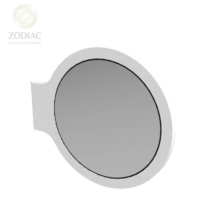 NOKEN Mood Зеркало в рамке с увеличением и систомой скольжения белое