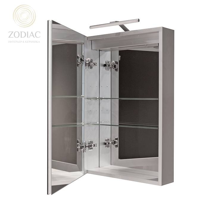 NOKEN Smart Cabinets Шкаф подвесной 60x75x13,5 см с одной дверцей и полками зеркальный c подсветкой