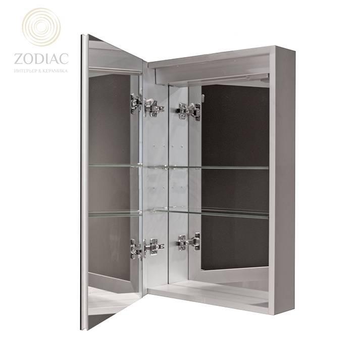 NOKEN Smart Cabinets Шкаф подвесной 50x75x13,5 см с одной дверцей и полками зеркальный хром