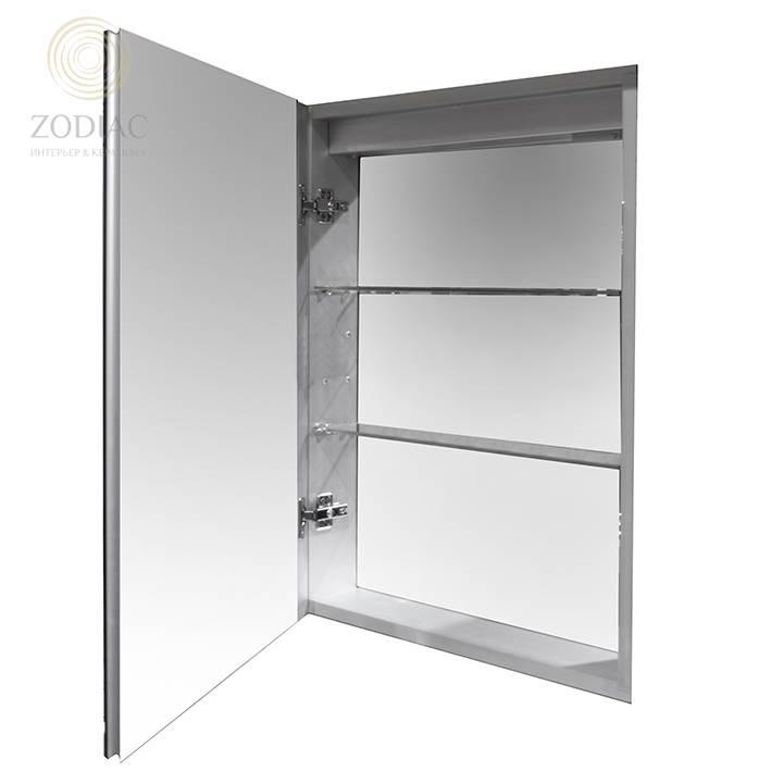 NOKEN Smart Cabinets Шкаф подвесной 48,9x76,2x10 см с одной дверцей и полками зеракальный с подсветк