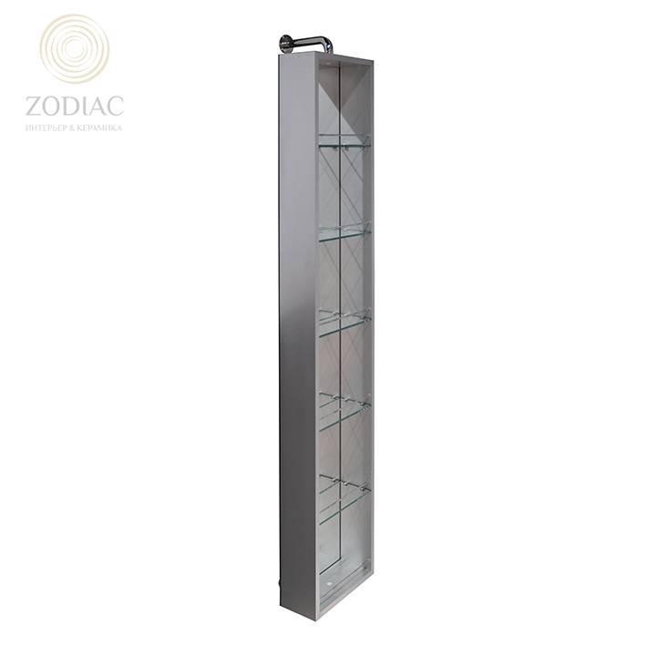 NOKEN Smart Cabinets Шкаф подвесной 170x30x14,5 см с полками зеркальный вращающийся хром