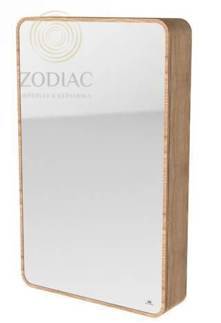 NOKEN Nature Шкаф 80x50x12,3 см подвесной зеркальный с выдвижной полкой слева дуб