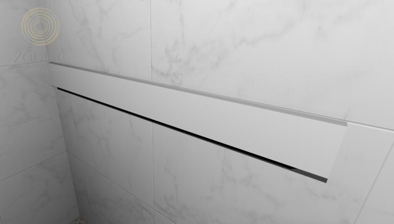GAMA DECOR Ciclo Полка навесная 120х12х5 см для аксессуаров белая