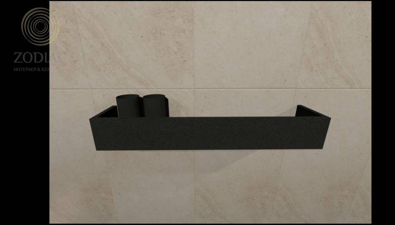 GAMA DECOR Dess Полка 60х9х12 см для аксессуаров Negro Metal/Krion