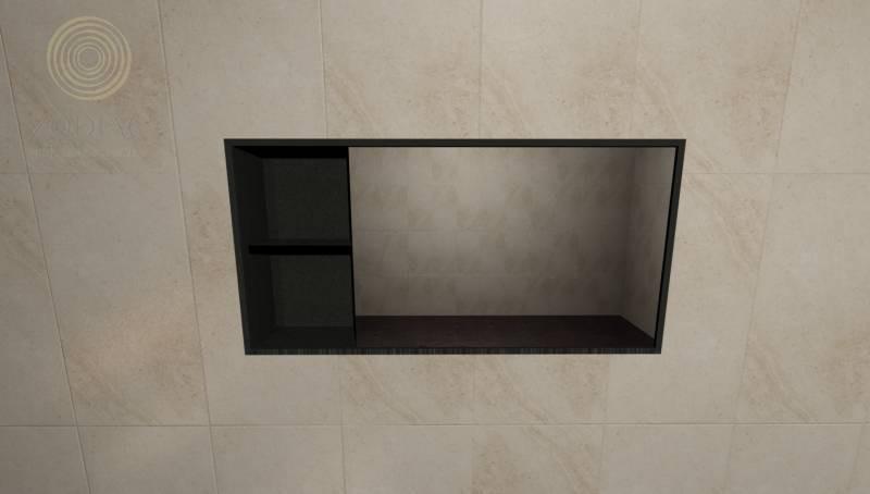 GAMA DECOR Flow Шкаф 40х80х13 см с зеркалом для аксессуаров Acero Inox