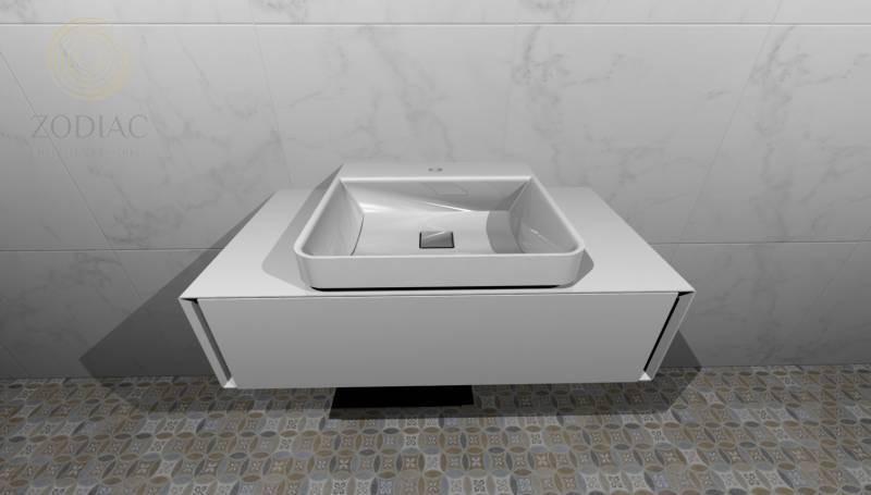 GAMA DECOR In Тумба blanco под раковину CICLO 90х24х48 см с выдвижным ящиком