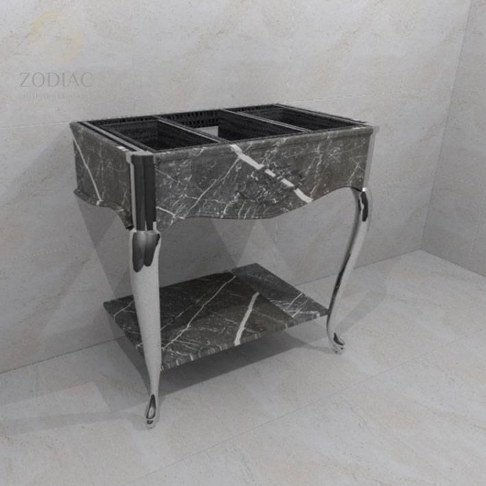 Консоль на ножках  GAMA DECOR Yester 90x87x53 для ванной комнаты из гранита Portobello