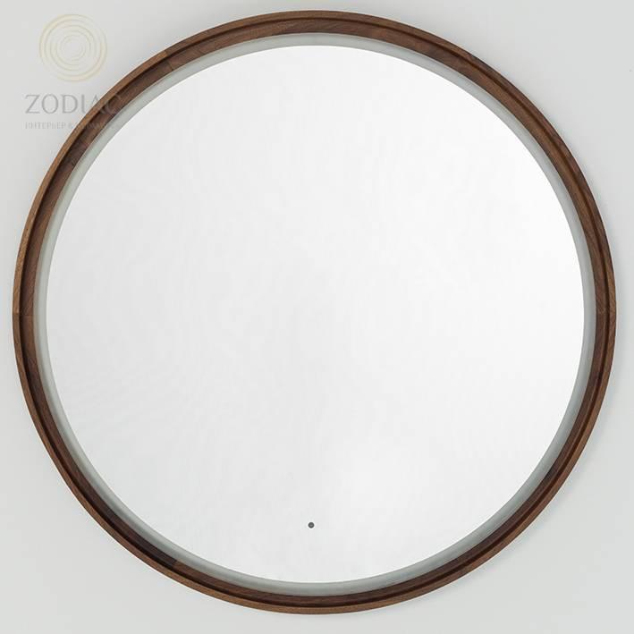 SYSTEM-POOL Tono Зеркало D95 см крион/орех