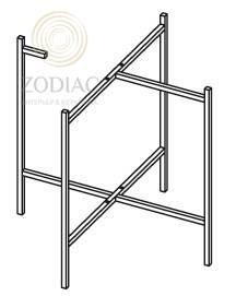SYSTEM-POOL Pure Каркас 40х40 см под этажерку медь