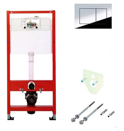 Комплект TECE для установки подвесного унитаза с панелью смыва