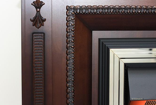 Портал Alexandria (классика Opti-Myst и Optiflame) махагон коричневый антик