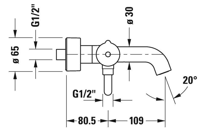 Смеситель Duravit C.1 C15230000010 для ванны