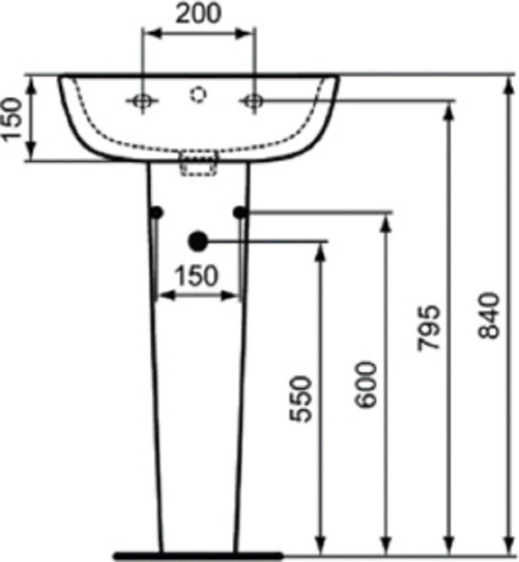 Пьедестал под раковину Ideal Standard Esedra T283901