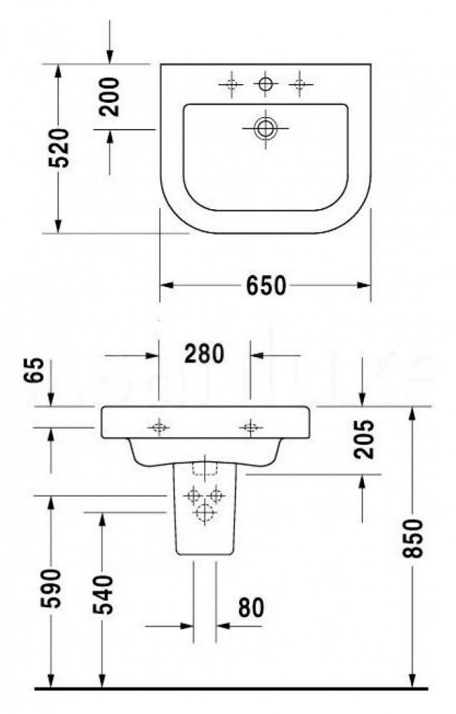 Раковина Duravit Happy D. 2 2318650000, 60 см