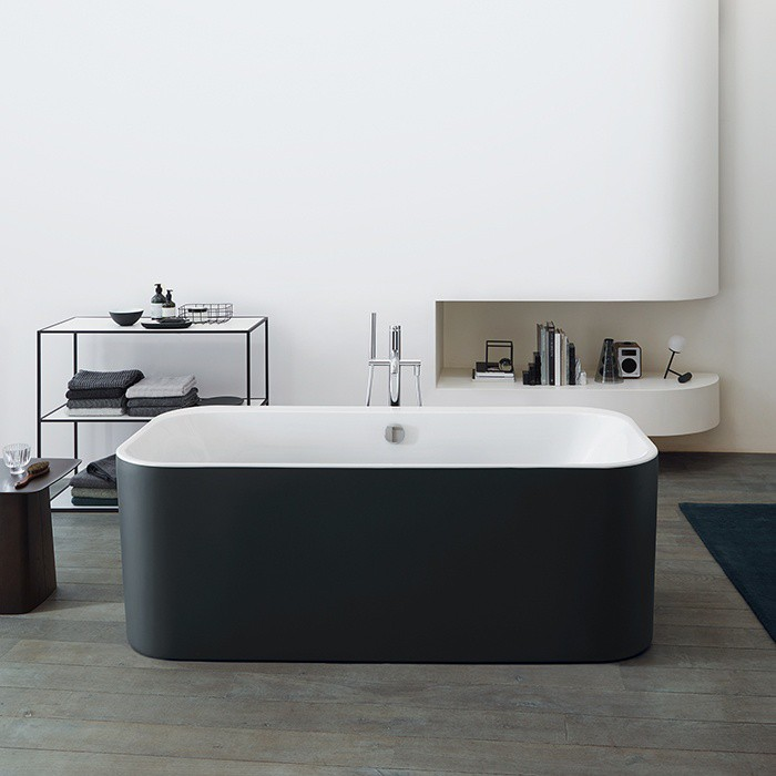 Ванна акриловая Duravit Happy D.2 Plus 700453800000000 180 x 80 см, graphite supermatt