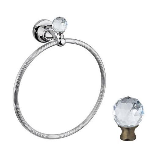 Полотенцедержатель кольцо Cezares Olimp RN-01-M цвет хром, ручки металл