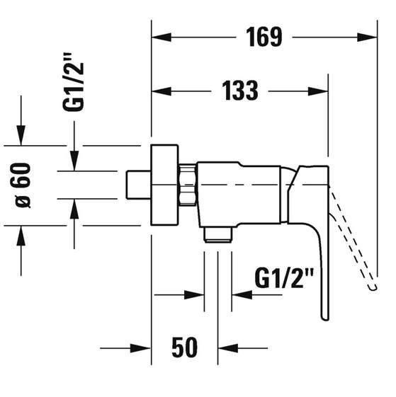 Смеситель Duravit B.2 B14230000010 для душа