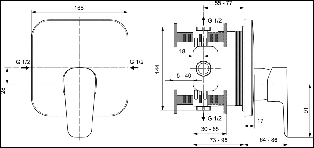 Смеситель для душа Ideal Standard Ceraplan III A6114AA