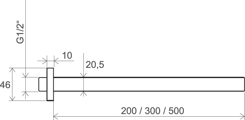 Кронштейн для верхнего душа Ravak 703.00/704.00/705.00