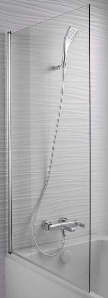 Шторка на ванну Jacob Delafon Struktura E6D042-GA 80 см, реверсивная