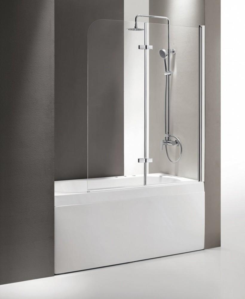 Душевая шторка на ванну Cezares Eco-O-V-21-120/140-P-Cr 120x140 см стекло матовое
