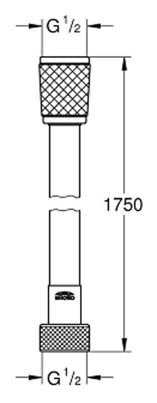 Душевой шланг Grohe Rotaflex 28410001, 175 см, 1/2