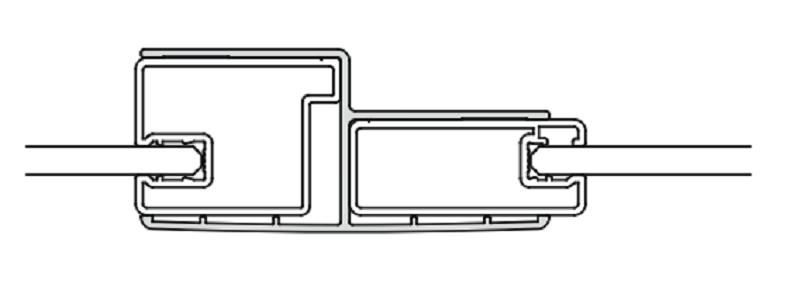 Комбинационный профиль Kermi CADA XS ZDKP KTF CK200VK для линейной конфигурации с боковой стенкой