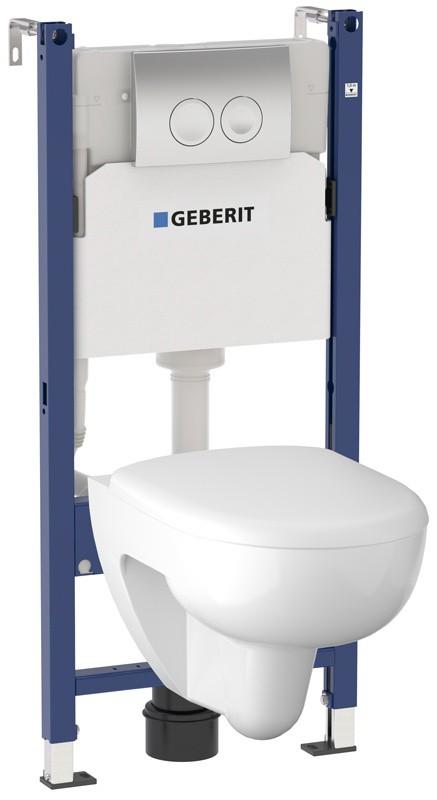 Инсталляция Geberit с безободковым унитазом Geberit Renova 203050000, сиденье микролифт, комплект Santehnica.ru