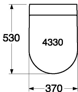 Унитаз Gustavsberg Artic 4330 GB114330201231 подвесной с сиденьем Soft-Close