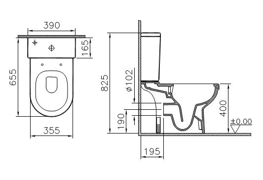 Унитаз Vitra S50 9797B003-7204 крышка микролифт, безободковый