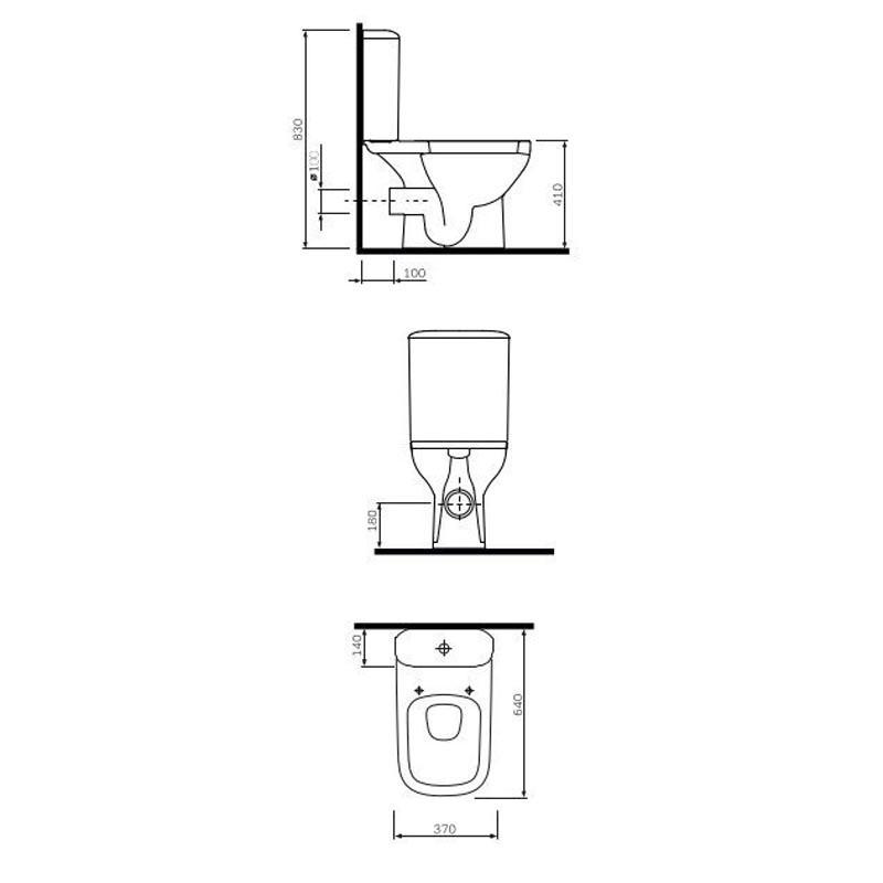 Унитаз-компакт Am.Pm Like S C808607SC с сиденьем микролифт