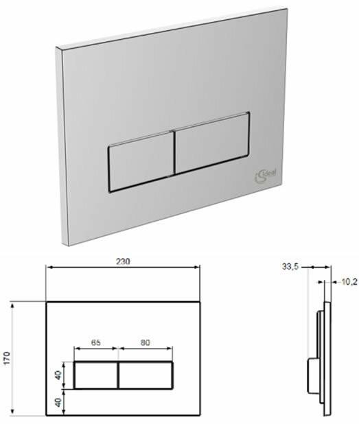 Инсталляция Ideal Standard W3710AA для унитаза в сборе с крепежом и кнопкой