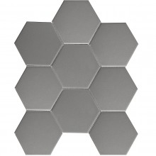 Мозаика Starmosaic Керамическая Hexagon big Grey Matt