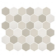 Мозаика Starmosaic Керамическая Hexagon small LB Mix Antislip