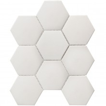 Мозаика Starmosaic Керамическая Hexagon big White Antislip