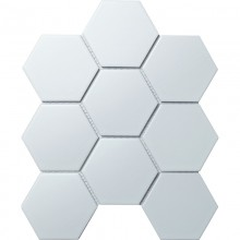 Мозаика Starmosaic Керамическая Hexagon big White Matt