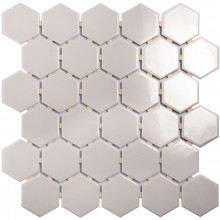 Мозаика Starmosaic Керамическая Hexagon small Grey Glossy