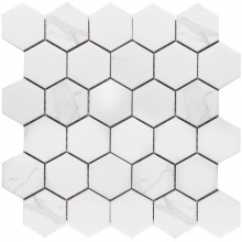Мозаика Starmosaic Керамическая Hexagon small Carrara Matt