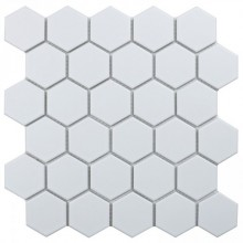 Мозаика Starmosaic Керамическая Hexagon small White Glossy