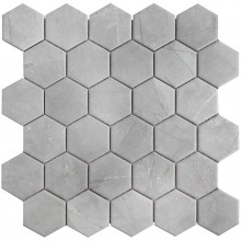 Мозаика Starmosaic Керамическая Hexagon small Marble Grey Matt